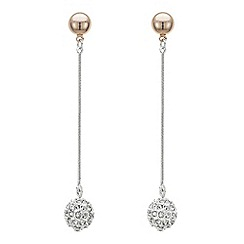 Principles by Ben de Lisi - Designer multi tone pave ball drop earring
