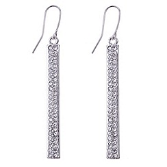 Principles by Ben de Lisi - Designer silver pave stick earring