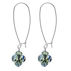 Principles by Ben de Lisi - Designer green cluster bead drop earring