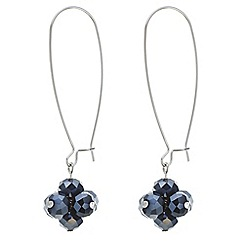 Principles by Ben de Lisi - Designer blue cluster bead drop earring