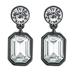 Principles by Ben de Lisi - Designer grey tonal crystal drop earring