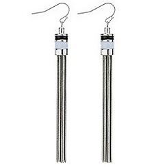 Principles by Ben de Lisi - Designer black and white tassel earring