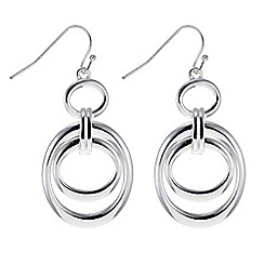 Principles by Ben de Lisi - Designer silver oval link drop earring