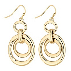 Principles by Ben de Lisi - Designer gold oval link drop earring