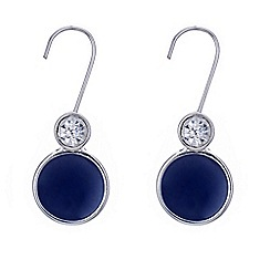 Principles by Ben de Lisi - Designer blue disc drop earring