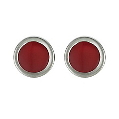 Principles by Ben de Lisi - Designer red inlay circle stud earring