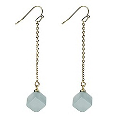 Principles by Ben de Lisi - Designer green cube drop earring