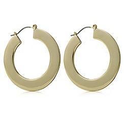 Principles by Ben de Lisi - Designer gold flat hoop earring