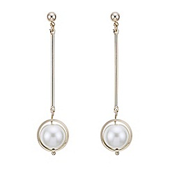 Principles by Ben de Lisi - Designer cream pearl sphere drop earring