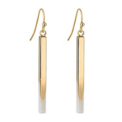Principles by Ben de Lisi - Designer white ombre gold stick earring
