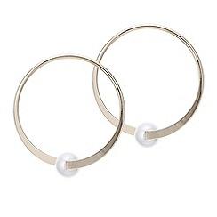 Principles by Ben de Lisi - Designer cream pearl twist hoop earring