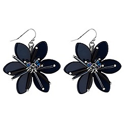 Principles by Ben de Lisi - Designer blue crystal flower earring