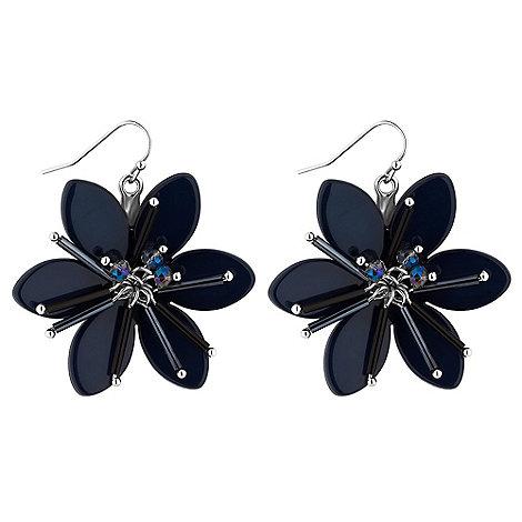 Principles by Ben de Lisi - Designer blue crystal flower earring