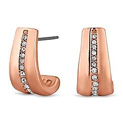 Principles by Ben de Lisi - Designer rose gold half hoop earring