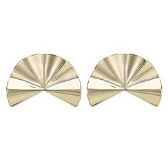 Principles by Ben de Lisi - Gold fan earring
