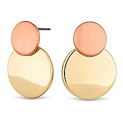 Principles by Ben de Lisi - Textured disc earring
