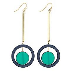 Principles by Ben de Lisi - Designer double circle drop earrings