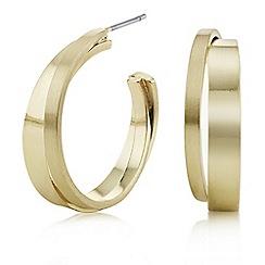Principles by Ben de Lisi - Designer gold cross over hoop earrings