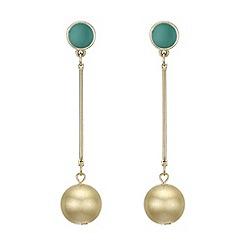Principles by Ben de Lisi - Designer gold ball earrings