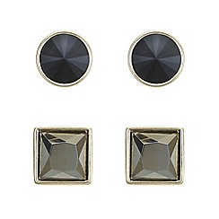 Principles by Ben de Lisi - Designer jet stud earrings set