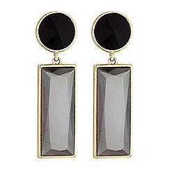 Principles by Ben de Lisi - Designer crystal square drop earrings