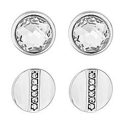 Principles by Ben de Lisi - Designer silver crystal earrings set