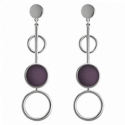 Principles by Ben de Lisi - Designer circle link drop earrings