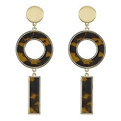 Principles by Ben de Lisi - Designer tortoise shell effect circle earrings