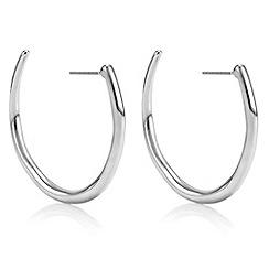 Principles by Ben de Lisi - Designer silver curve hoop earrings