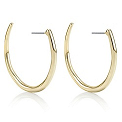 Principles by Ben de Lisi - Designer gold curve hoop earrings