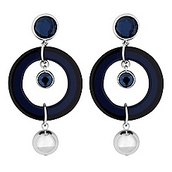 Principles by Ben de Lisi - Designer crystal circle charm earrings