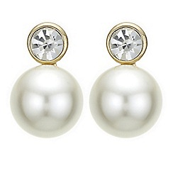 Principles by Ben de Lisi - Designer pearl and crystal stud earrings