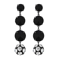 Principles by Ben de Lisi - Designer pave ball jet bead earrings