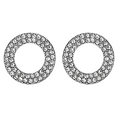 Principles by Ben de Lisi - Designer pave circle earrings
