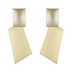 Principles by Ben de Lisi - Designer gold geometric drop earrings