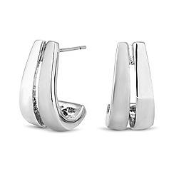 Principles by Ben de Lisi - Designer polished and matt half hoop earrings