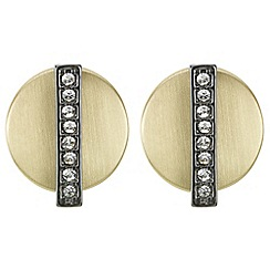Principles by Ben de Lisi - Designer pave bar disc earrings