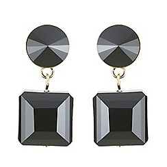 Principles by Ben de Lisi - Designer jet bead drop earrings