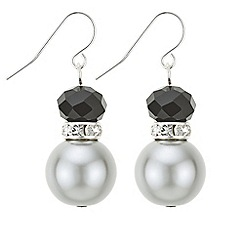 Principles by Ben de Lisi - Designer jet facet bead earrings