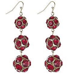 Principles by Ben de Lisi - Designer pave ball drop earrings