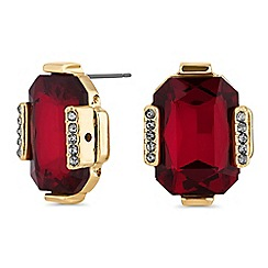 Principles by Ben de Lisi - Designer red facet crystal stud earrings