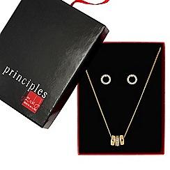 Principles by Ben de Lisi - Designer rose gold circle jewellery set