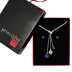 Principles by Ben de Lisi - Designer blue pearl jewellery set
