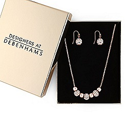 Principles by Ben de Lisi - Designer rose gold pave ball jewellery set
