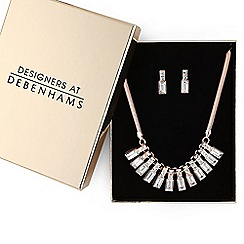 Principles by Ben de Lisi - Designer crystal baguette jewellery set in a gift box