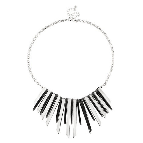 Principles by Ben de Lisi - Black and silver chunky shard collar necklace
