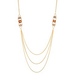 Principles by Ben de Lisi - Triple gold row beaded necklace