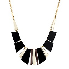 Principles by Ben de Lisi - Black and gold graphic shard collar necklace