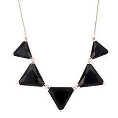 Principles by Ben de Lisi - Jet triangular graduated drop necklace