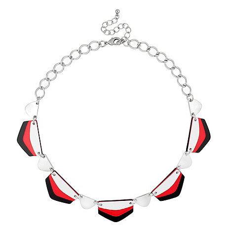 Principles by Ben de Lisi - Triple red and black plate enamel necklace